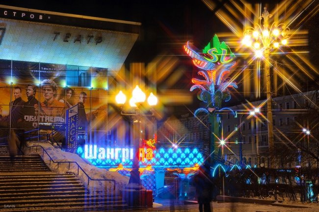 Огни ночной Москвы (58 фото)