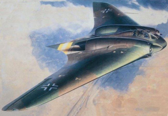 Нацистский самолет невидимка (12 фото)