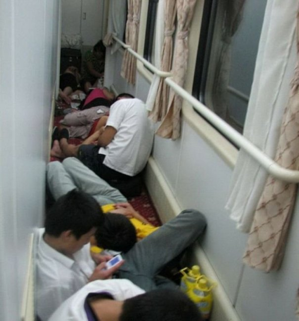 Китайский поезд (7 фото)