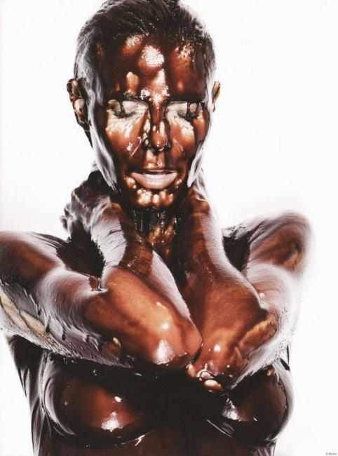 Хайди Клум в шоколаде (18 фото)
